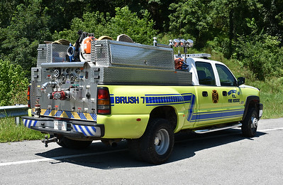 The back end view of District 16's Brush 7-1.