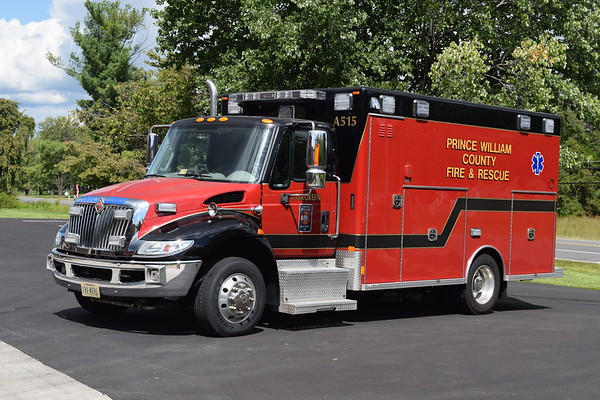 Ambulance 515 is a County reserve unit, a 2011 International/Excellance.  ex- Evergreen VFD.