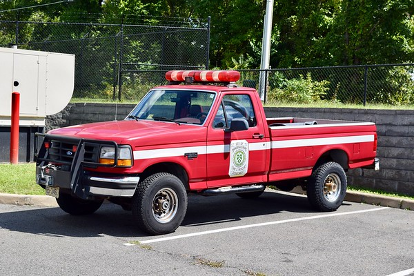 Manassas Park's former brush truck is now used as a utility.