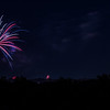 Fireworks over the campus of Purdue University