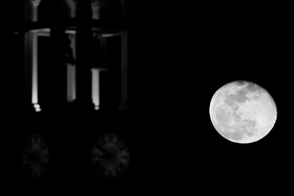 The Snow Moon Over Purdue University – Dave Wegiel Photography