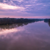 A view over the Wabash River made just after sunrise with a DJI Phantom 4 Pro quadcopter