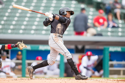 Jose Vinicio bats as the Indianapolis Indians take on the Charlotte Knights at Victory Field on May 9, 2017. (Photo credit: Dave Wegiel/MiLB.com as the Indianapolis Indians take on the Charlotte Knights at Victory Field on May 9, 2017. (Photo credit: Dave Wegiel/MiLB.com