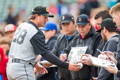 Carson Fulmer signs autographs before the Indianapolis Indians take on the Charlotte Knights at Victory Field on May 9, 2017. (Photo credit: Dave Wegiel/MiLB.com