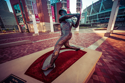 The Tony Perez statue outside of Great American Ballpark home of the Cincinnati Reds