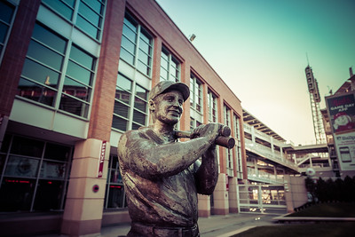 The Ted Kluszewski statue outside of Great American Ballpark home of the Cincinnati Reds