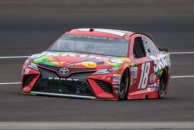 Kyle Busch of Joe Gibbs Racing practices before the 2017 Brantley Big Machine Brickyard 400 (Dave Wegiel)