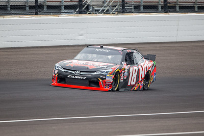 Kyle Busch of Joe Gibbs Racing Qualifies for the Lilly Diabetes 250 at the Indianapolis Motor Speedway (Dave Wegiel)