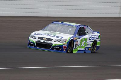 Ty Dillon of Germain Racing practices before the 2017 Brantley Big Machine Brickyard 400 (Dave Wegiel)