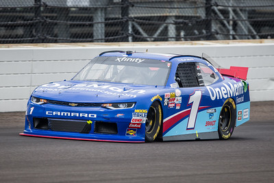 Elliot Sadler of JR Motorsports Qualifies for the Lilly Diabetes 250 at the Indianapolis Motor Speedway (Dave Wegiel)