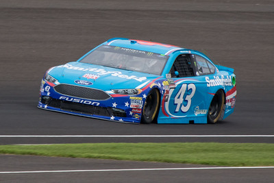Aric Almirola of Richard Petty Racing practices before the 2017 Brantley Big Machine Brickyard 400 (Dave Wegiel)