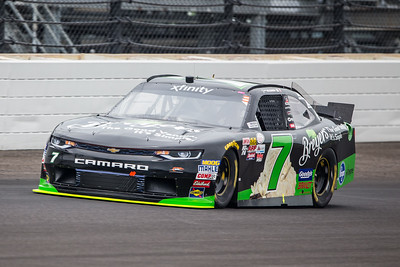 Justin Allgaier of JR Motorsports Qualifies for the Lilly Diabetes 250 at the Indianapolis Motor Speedway (Dave Wegiel)