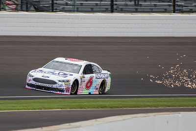 Trevor Bayne of Roush Fenway Racing practices before the 2017 Brantley Big Machine Brickyard 400 (Dave Wegiel)