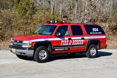 Battalion 504's back-up buggy, a 2001 Chevy Suburban.