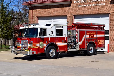 Engine 509B is a 2008 Pierce Enforcer, 1500/750/40, sn- 20138.