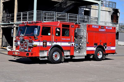 Engine 593 is the Academy's newest apparatus, a 2016 Pierce Arrow XT, 1500/750/40/40, sn- 30389-05.  Part of a five unit order.