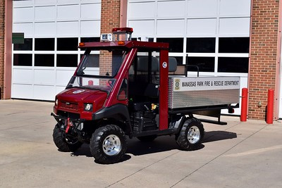 UTV (Ultimate Terrain Vehicle) 509 is a 2012 Kawasaki Mule/UWS.  This vehicle was part of a regional COG order across the DC Metro region.