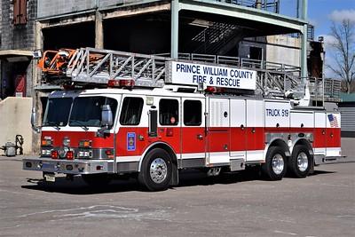 Truck 519 is a 1991 E-One Hurricane, 110', sn- 9040.  The Academy's primary aerial apparatus, a replacement is on order.  ex-Stonewall Jackson VFD Truck 11.