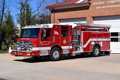 Manassas Park's Engine 509 is a 2017 Pierce Velocity 2000/750/50, sn- 30725.
