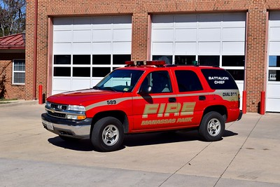 Battalion Chief 589 is a 2005 Chevy Tahoe.  This unit is up for replacement.