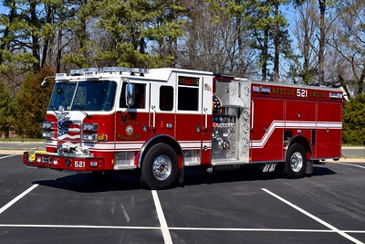 Rescue Engine 521 from Manassas is this nice 2017 Pierce Arrow XT, 1500/500/40, sn- 30802.    RE521 will run as an Engine in its first due area and as a Rescue in its second due/mutual aid areas.