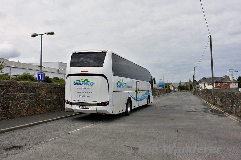 A coach waits at Arklow to bring the Belmond Guests on a tour of Co. Wicklow. Sat 29.04.17