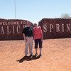 Bob and Marydee at Alice Springs, Northern Territory, Australia
