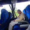 Sleepy Bob in a bus, New Zealand