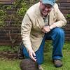 Bob with a Kiwi, Whangarei Native Bird Recovery Center, New Zealand