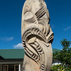 Maori sculpture, Russell, Bay of Islands, New Zealand