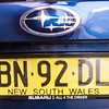 NSW License Plate, Sydney, New South Wales, Australia