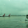 A rainy arrival in Melbourne