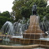 Governor Lachlan Macquarie statue and fountain, Franklin Square, Hobart, Tasmania, Australia