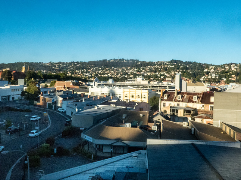 View from our room at the Best Western, Launceston, Tasmania, Australia