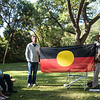 Den giving aboriginal talk, Royal Botanic Gardens, Melbourne, Australia
