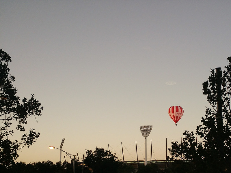 Balloon over Melbourne, Australia
