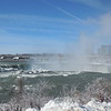 Starting to see the snowy ice buildup at the brink of the Falls