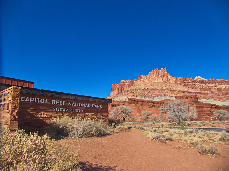 The Castle and visitor center, Capitol Reef NP, UT