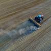 Shredding wheat stubble