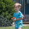 Kailen with water pistol