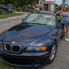 Michelle and her beemer convertible