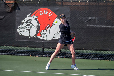 GWU Women's Tennis vs. Limestone Feb 2017
