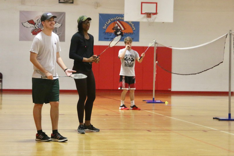 On Wednesday, February 22nd, Professor Dolan's Tennis and Badminton Class met to take their Badminton Skills Test.