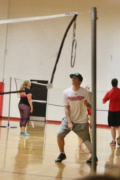 On Wednesday, February 22nd, Professor Dolan's Tennis and Badminton Class met to take their Badminton Skills Test.