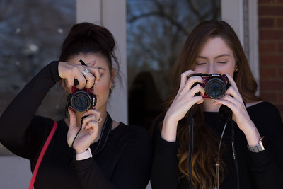 Rachel Mower and Madison Hyleman both got cameras for there photo unit.
