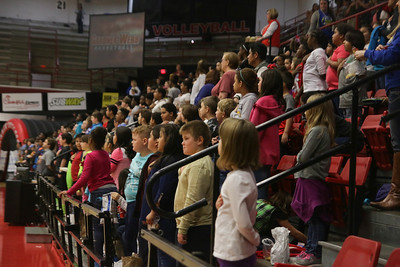 On Tuesday morning at 11:00am kids from all over Cleveland County filled Paul Porter arena for the annual Education Day. GWU Women's Basketball played Longwood during that time winning 89-55.