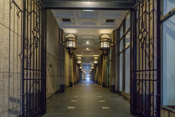This retail passageway, immediately east of the Commercial Bank of Australia, runs from Collins Street through to the Australian University on Flinders Lane  via Bligh Place.