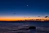 Crescent Moon Mars and Venus
