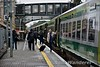 Passengers alight from the 1120 Cork - Heuston at Portlaoise. Tues 07.03.17