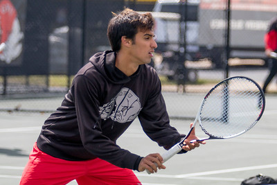 GWU Men's Tennis vs. UNC Asheville March 2017